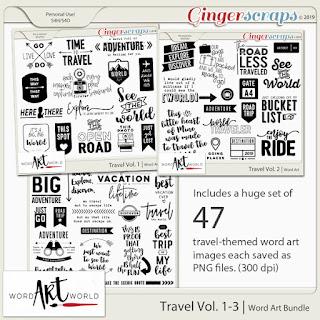 $2 Tuesday Deals, New Travel-Themed Word Art, Freebie!
