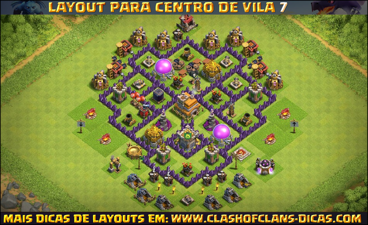layouts de cv7 para clash of clans