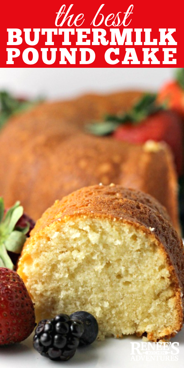 Buttermilk Pound Cake pin for Pinterest