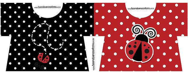 Ladybug Party T-shirt Invitation.