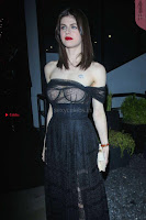Alexandra Daddario Showing off her  in transparent top at Dior Addict Lacquer Pump Launch ~ Celebs.in Exclusive 010.jpg