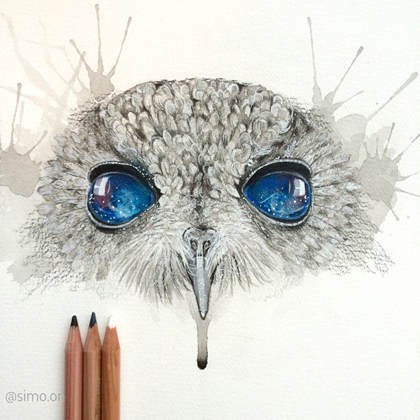 21-Owl-Simon-Balzat-Colored-Pencils-make-Beautiful-Drawings-www-designstack-co