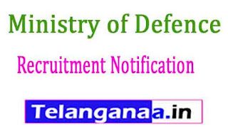 Ministry of Defence Recruitment Notification 2017