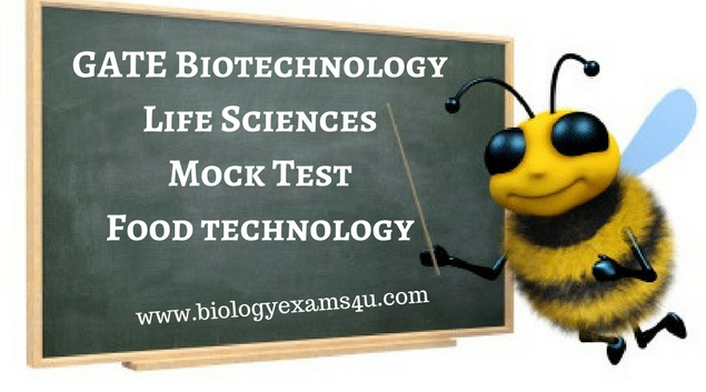 GATE Mock Test on Food Technology Practice Test