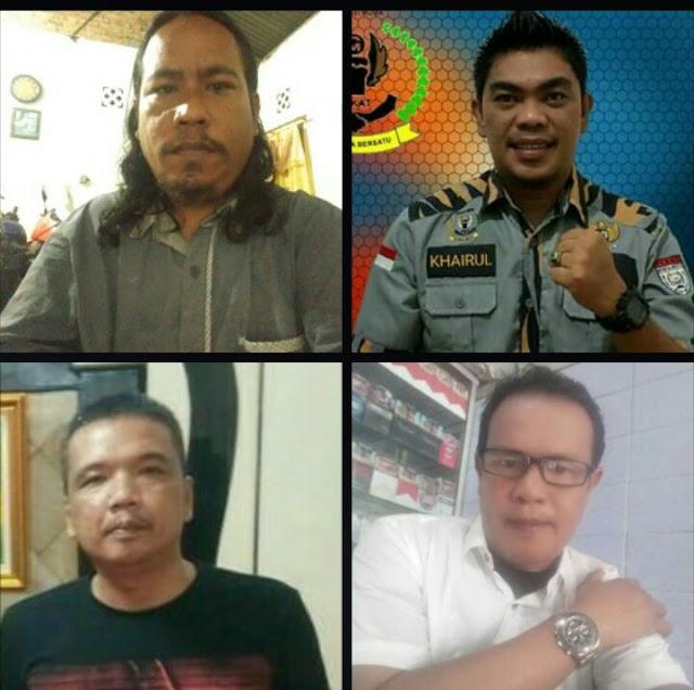 Empat penerima mandat IWO Asahan-Batubara priode 2018-2025 Syafruddin Yusuf, Khairul Anhar Harahap, Muhammad Yunus, Ibnu Hajar Piliang.