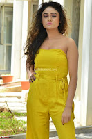 Sony Charishta In a Yellow Jump Suit Sleevelss Deep neck Beautiful Actress ~  Exclusive 008.jpg