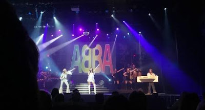 The ABBA Show production on stage at Theatre of Marcellus