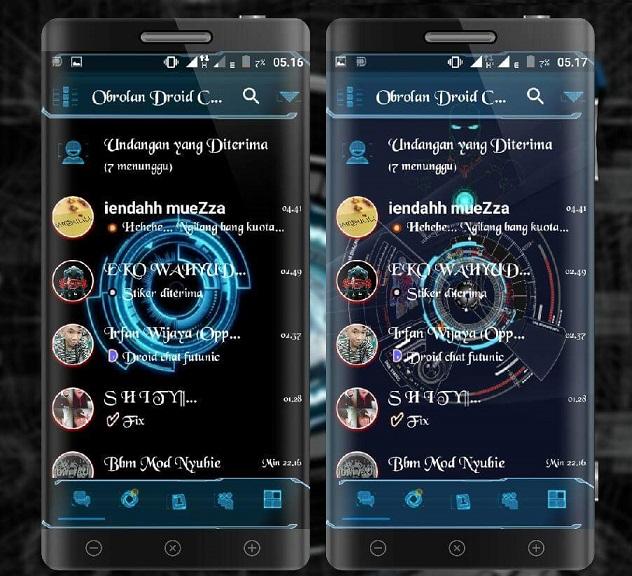 MOD BBM Futuristic Droid Chat