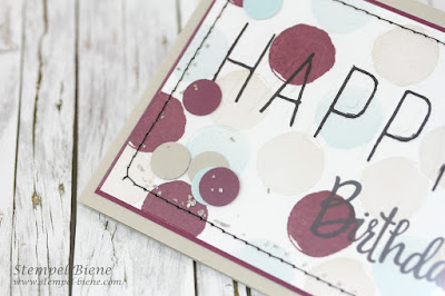 Schüttelkarte Geburtstag; Stampinup Schüttelkarte; Stampinup Feierstimmung; Celebrations Duo; Stempel-biene