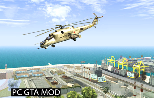 Free Download Mil MI-24D Mod for GTA San Andreas.