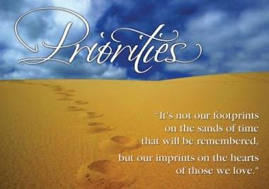 PRORITIES OF THE PROGRAMME