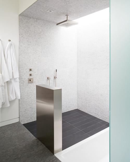 trend homes modern shower ideas. Black Bedroom Furniture Sets. Home Design Ideas
