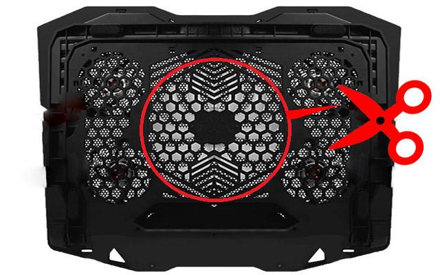 Faça um corte na grade abrindo o máximo possível aberturas para liberar o fluxo de ar