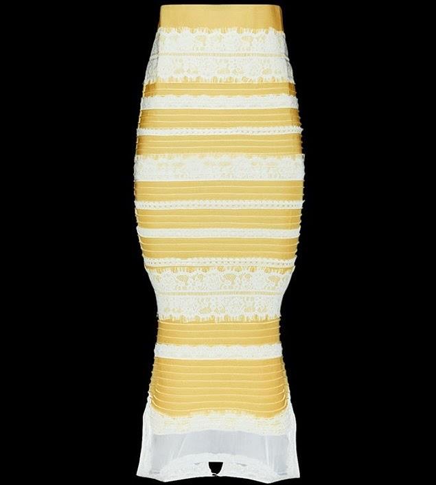 Vestido azul e preto ou amarelo e branco
