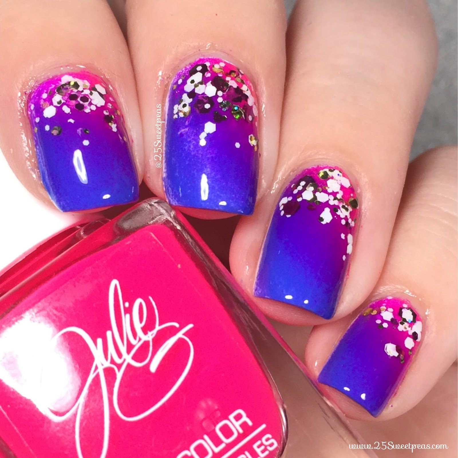 Julie G Nail Polish Gradation