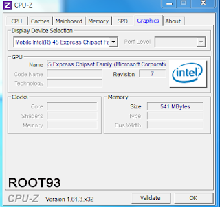CPU-Z Menu Graphics
