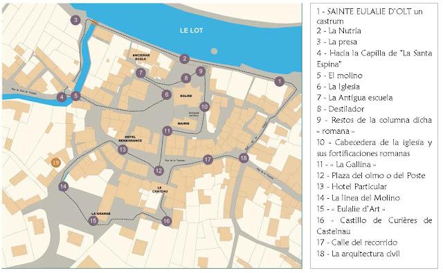 Mapa de Sainte Eulalie d'Ol, Francia
