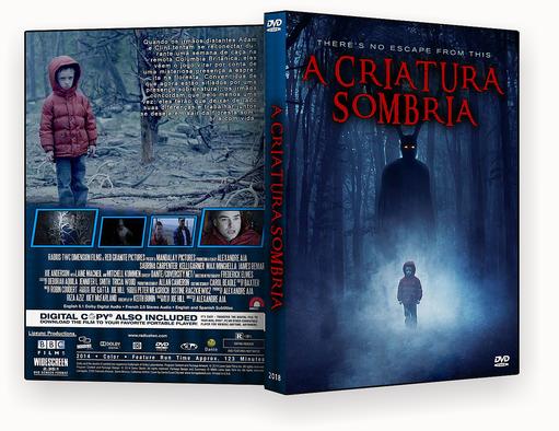 CAPA DVD – A Criatura Sombria DVD-R AUTORADO