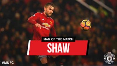 Luke Shaw Man of the Match Manchester United vs Bournemouth 1-0