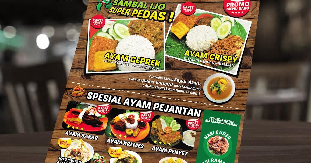 Jasa Desain Brosur Promosi Untuk Rumah Makan Di Jakarta Otakatikide Branding Design Consultant