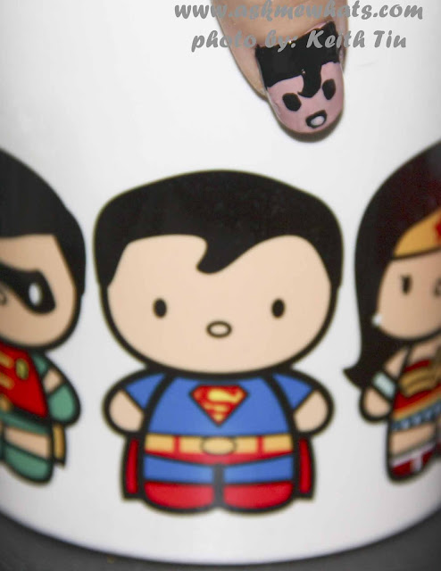 a photo of DC Superheroes Nail Art Tutorial Superman