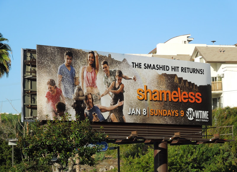 Shameless season 2 TV billboard