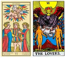 Simbología del Arcano de Los Enamorados