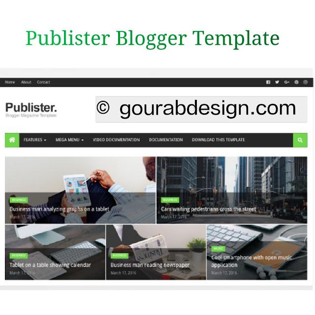 publister tech blogger template