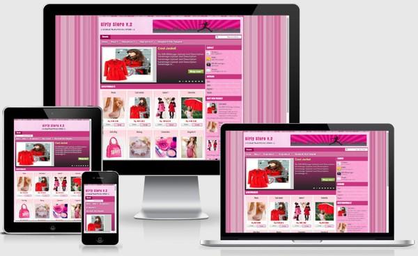 Girly Store V2 Responsive Blogger Templates