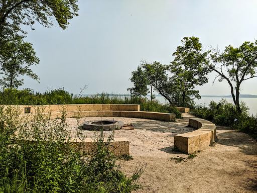 Large firepit at Picnic Point