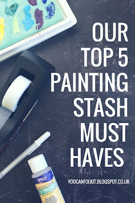 The five products that we wouldn't be without when using our painting kits