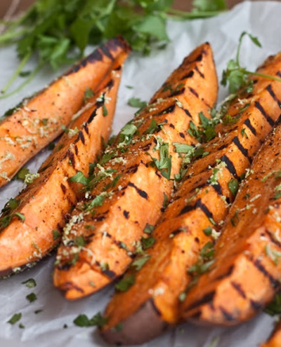 Grilled Cilantro-Lime Sweet Potatoes