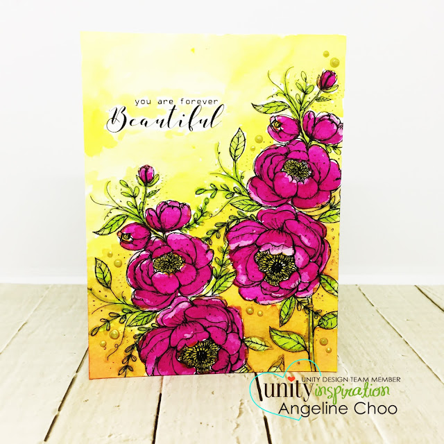 ScrappyScrappy: Unity Stamp's 10th Birthday Party - Forever you are Beautiful #scrappyscrappy #unitystampco #card #cardmaking #stamp #stamping #craft #crafting #scrapbook #quicktipvideo #youtube #video #papercraft #timholtz #distressinks #watercolorpainting #floralstamp #tonicstudios #nuvocrystaldrops