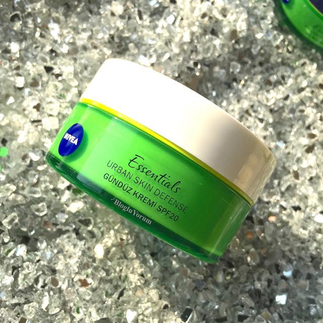 nivea essentials urban skin defense gündüz kremi spf 20
