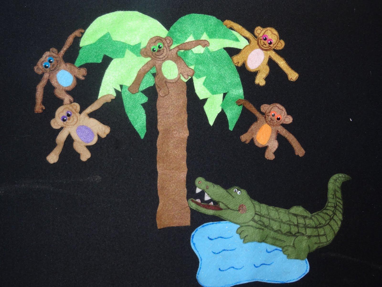 Deema S Felting Fun Five Little Monkeys Swinging On A Tree