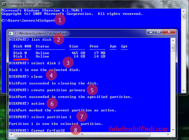 pen-drive bootable command on cmd - www.solutioninhindi.com