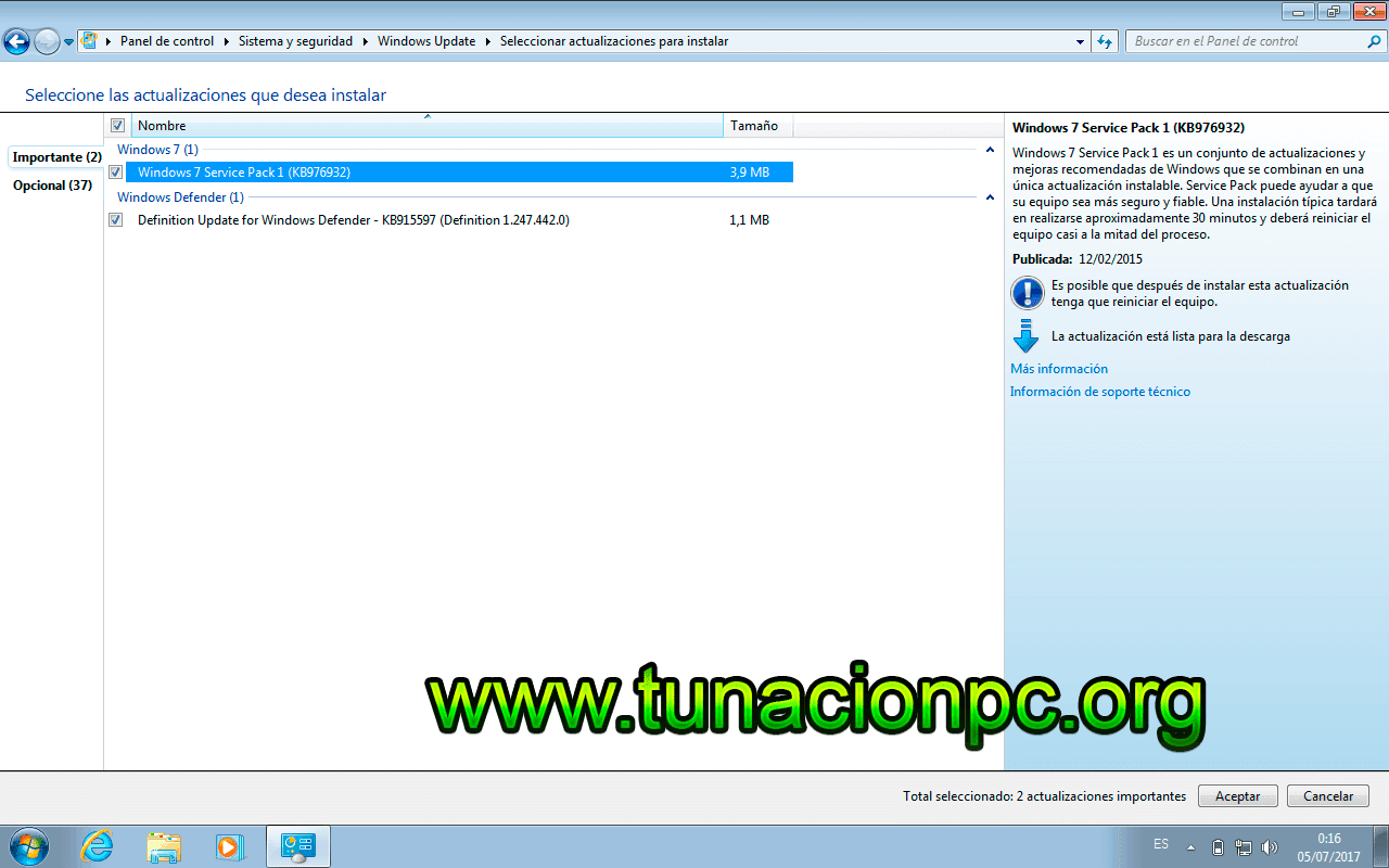 Windows 7 AIO Todas las Actualizaciones