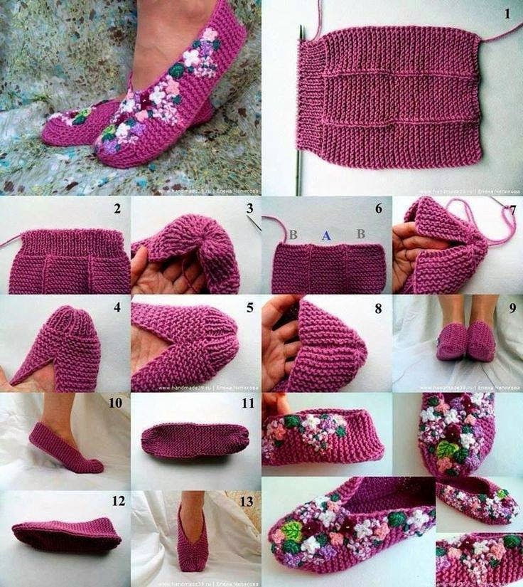 kapcie na drutach z haftem