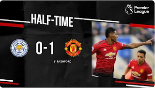 HT: Leicester City vs Manchester United 0-1 Highlights
