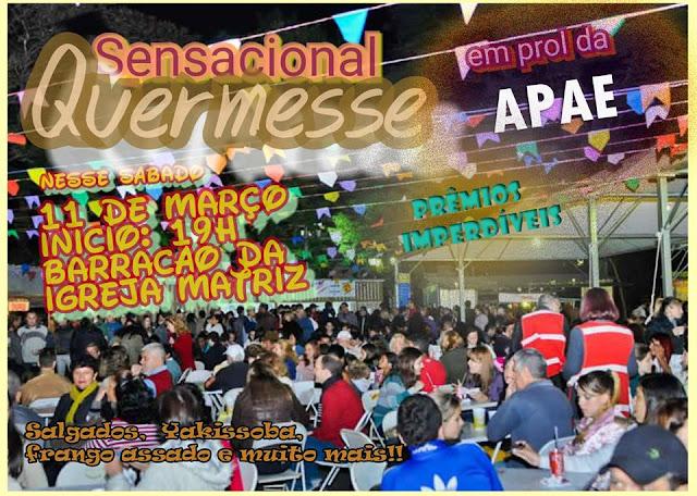 Sensacional Quermesse em Prol da Apae de Sete Barras neste 11/03