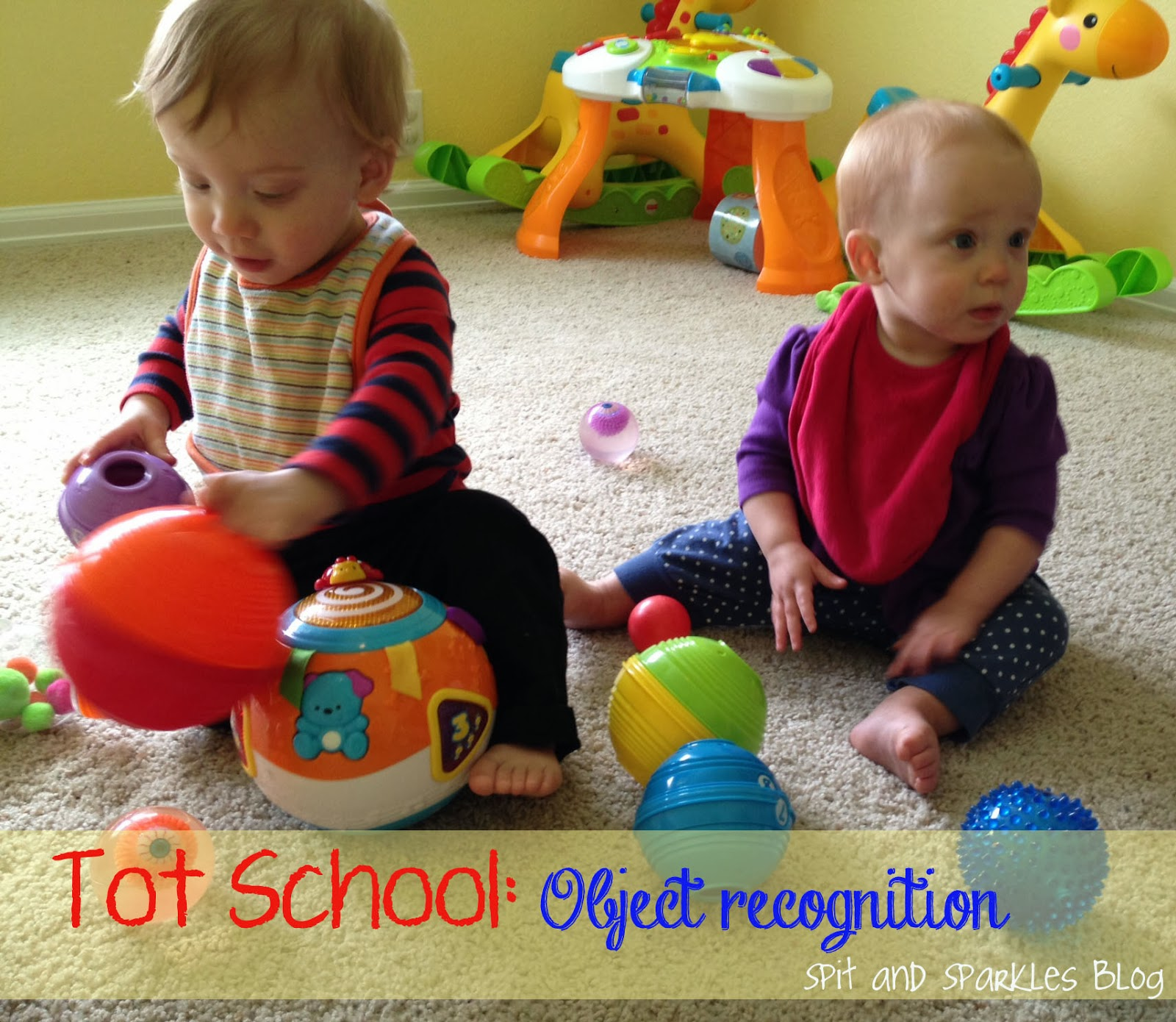 How to create an early learning and object recognition activity for babies #totschool #earlylearning #homeschool