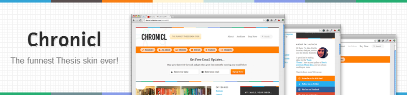 Chronicl Free Converted Blogger Template