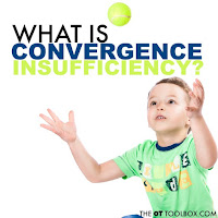 Wondering about convergence insufficiency? This article explains what is convergence insufficiency, the definition of convergence, how convergence is used in vision tasks like handwriting, reading, catching a ball, and learning as well as red flags for convergence and visual processing skills and screening tools for convergence insufficiency.