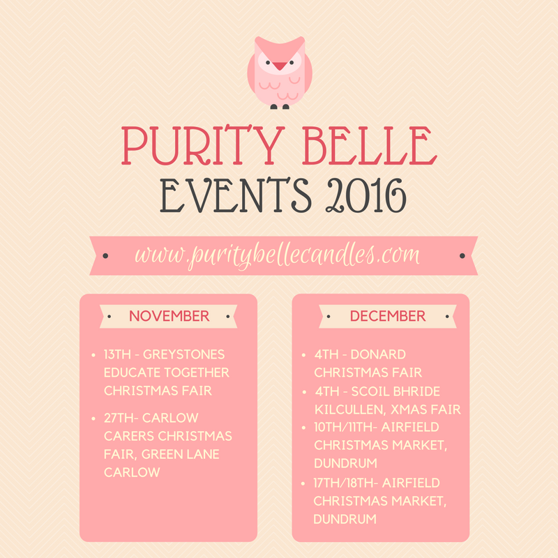 Purity Belle Candles 2016 Christmas Events Listing