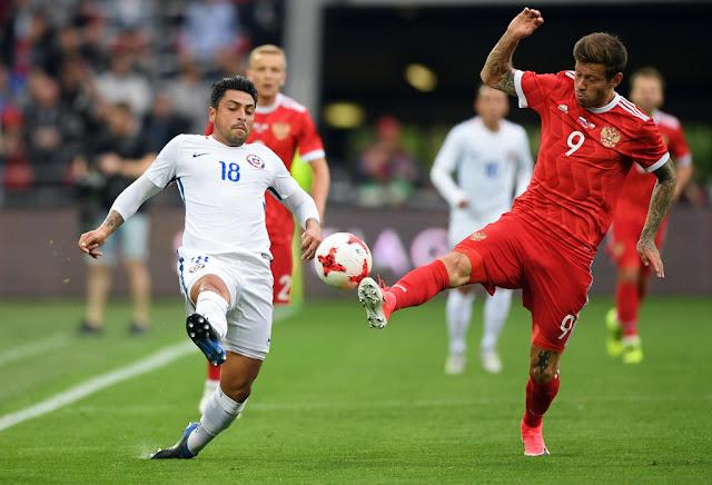 Rusia y Chile en partido amistoso, 9 de junio de 2017