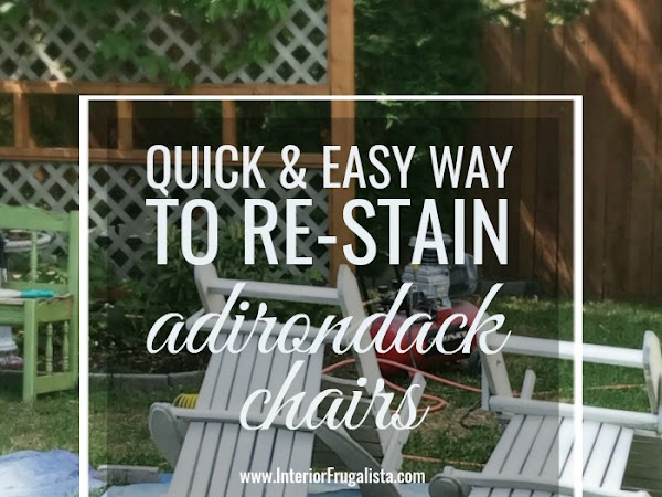 A Quick And Easy Way To Re-Stain Adirondack Chairs