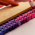He Slices Into A Straight Line Of Crayons, But Watch When He Pulls The Knife Away