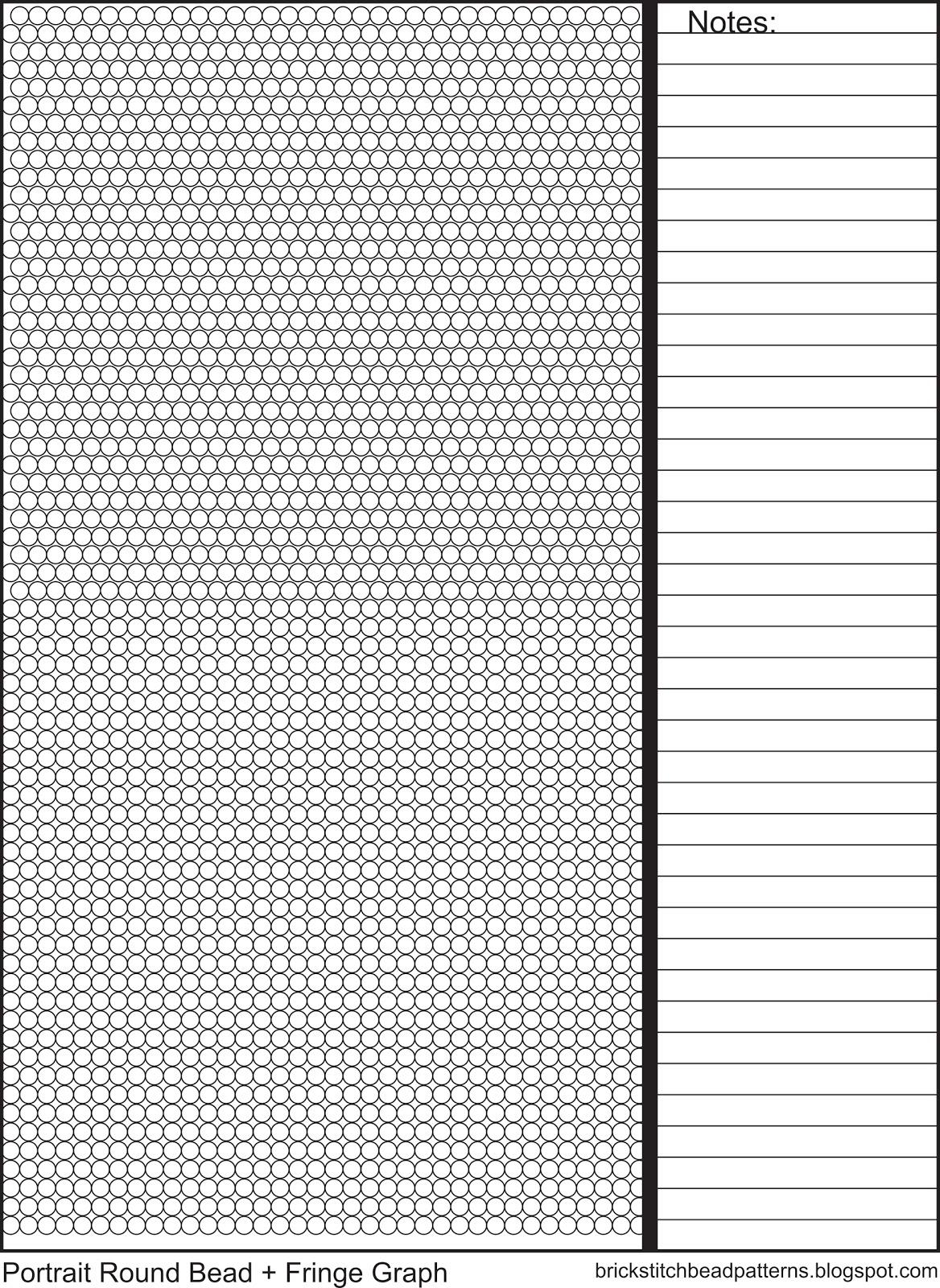 Printable Brick Stitch With Fringe Graph Paper