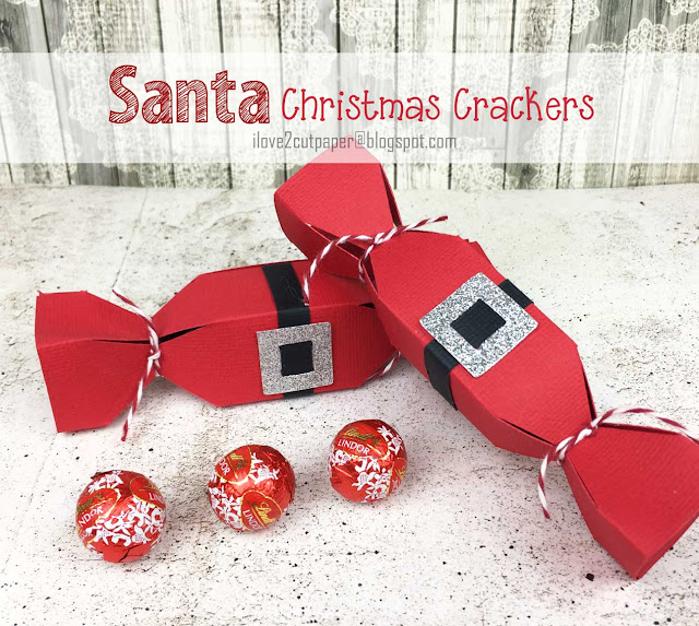 Santa Crackers, Christmas projects, Christmas crafts, ilove2cutpaper, LD, Lettering Delights, Pazzles, Pazzles Inspiration, Pazzles Inspiration Vue, Inspiration Vue, svg, cutting files, templates