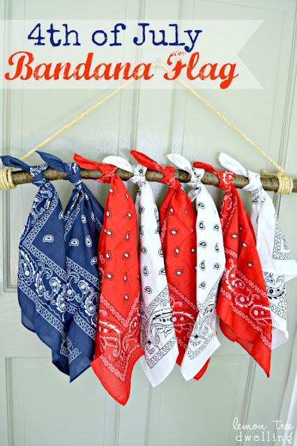 4th of July Bandanna flag diy
